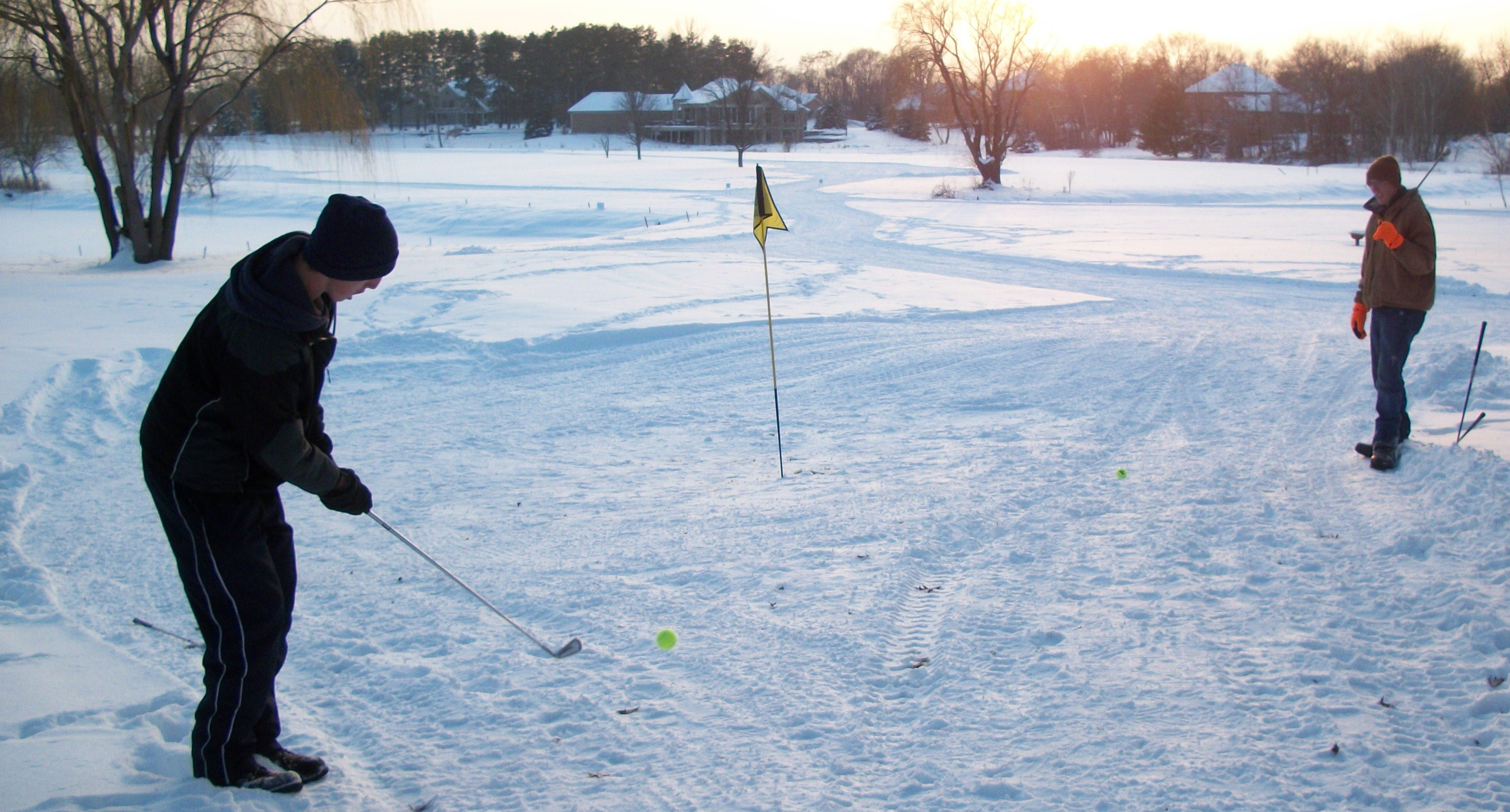 Day 254: Snow Golf at Majestic Oaks