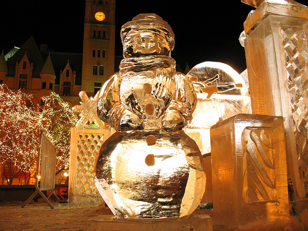 Day ice sculptures at the st paul winter carnival