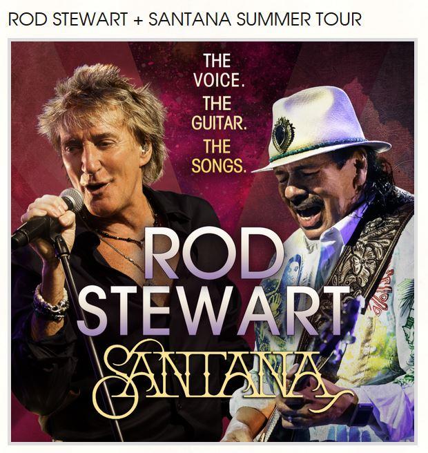 Rod Stewart and Santana Concert